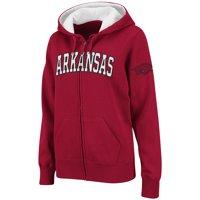 Arkansas Razorbacks Colosseum Women's Plus Size Full-Zip Hoodie - Crimson