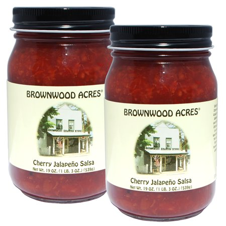 - Brownwood Acres Michigan Cherry Jalapeno Salsa - 2 PACK - 19 ounces each