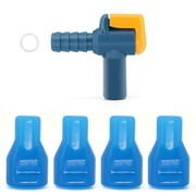 4 Pack Bite Valve Replacement and 90 Degree Silicone Mouthpiece for Hydration Pack. Shutoff Nozzle and O-Ring Kit for Outdoor Backpack Hydration Bladder Reservoir