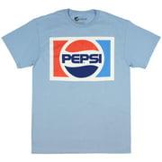 Pepsi Cola Adult Shirt Classic 80's Logo Light Blue Short Sleeve T-shirt