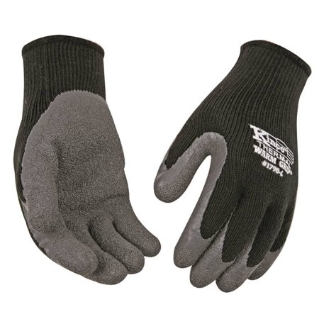 (Warm Grip 1790 Protective Gloves, Men's, Medium, Acrylic Knit Shell, Black, Thermal Lining)