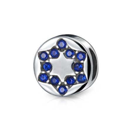 Bling Jewelry Cz Star Of David Sterling Silver Holiday Bead Pandora Compatible