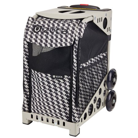 Zuca Rolling Pet Carrier - Houndstooth Black bag with White Sport ...