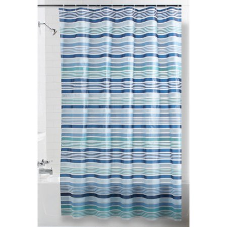 teal striped shower curtain. Mainstays Breton Stripe Shower Curtain  Walmart com