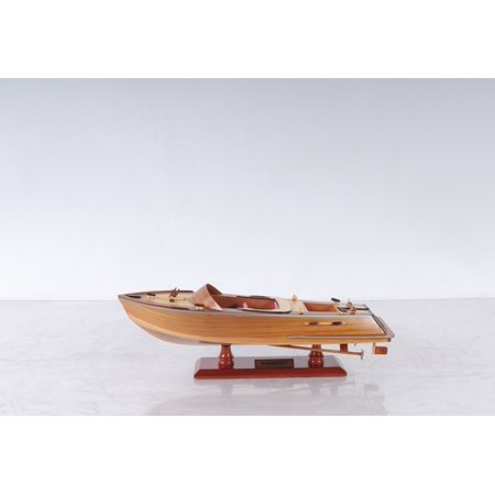 Discounted Display Models (Runabout Small Canoe Boat Wooden Model Display )