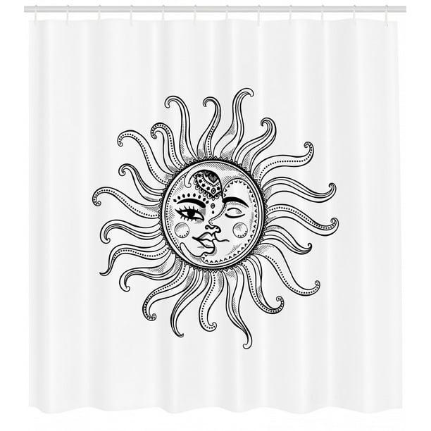 Sun Shower Curtain Doodle Style