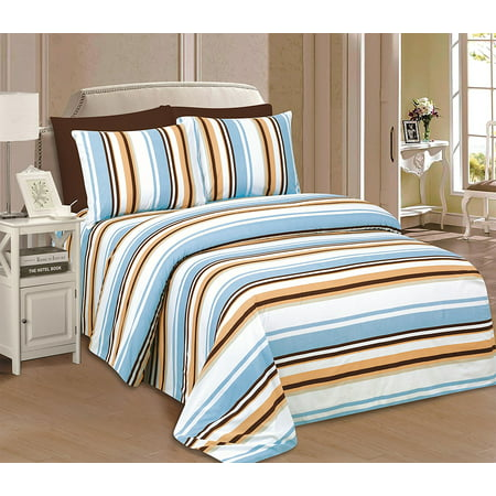 Beverly Hills 1800 Series Ultra Soft Printed 4 PC Sheet Set (Twin, Noah)