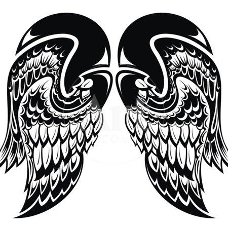 Angel Wings Wall (Angel Wings Print Wall Art By)