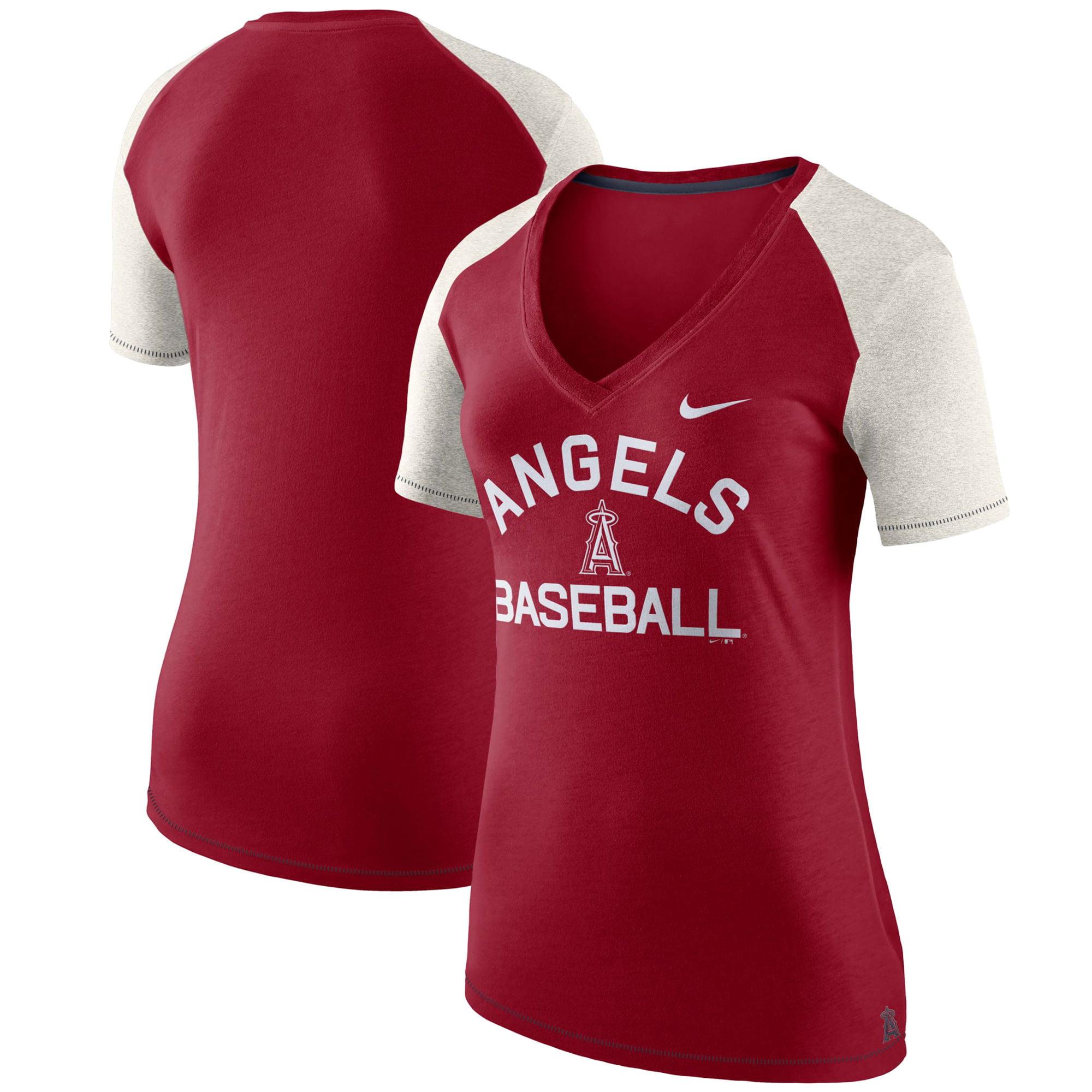 Los Angeles Angels Nike Women's V Fan T-Shirt - Red
