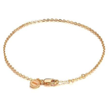 Ginger Lyne Collection Gold Over Sterling Silver Rolo Chain Charm Bracelet (Sterling Silver Rolo Chain Bracelet)