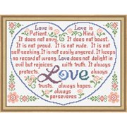 Herrschners® Love is Patient Kit Stamped Cross-Stitch Kit