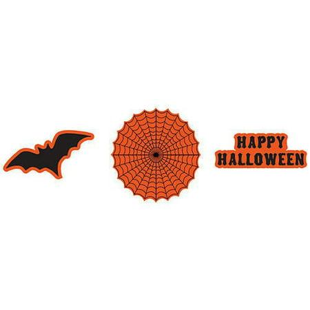 Creative Converting 996861 12 Count Paper Cutout Wall Decorations, Spooky Scenes, Orange/Black - Spooky Scene