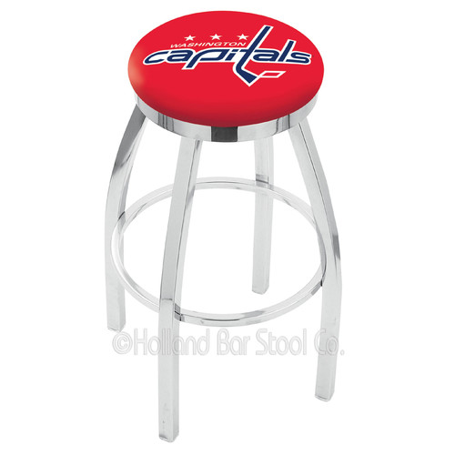 """25"""" L8C2C - Chrome Philadelphia Flyers Swivel Bar Stool with Accent Ring by Holland Bar Stool Company"""