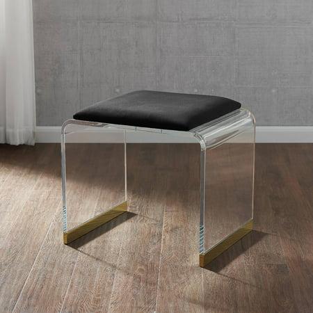Amazing Southern Enterprises Motza Upholstered Acrylic Vanity Stool Pabps2019 Chair Design Images Pabps2019Com