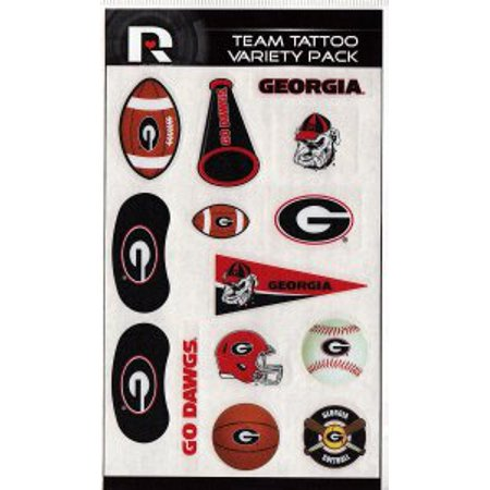 Georgia Bulldogs Variety Pack Tattoo Set - Georgia Bulldog Tattoos