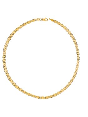 14k Real Yellow Gold Mariner Chain Anklet/Ankle Bracelet, 10 inches 1.7 mm