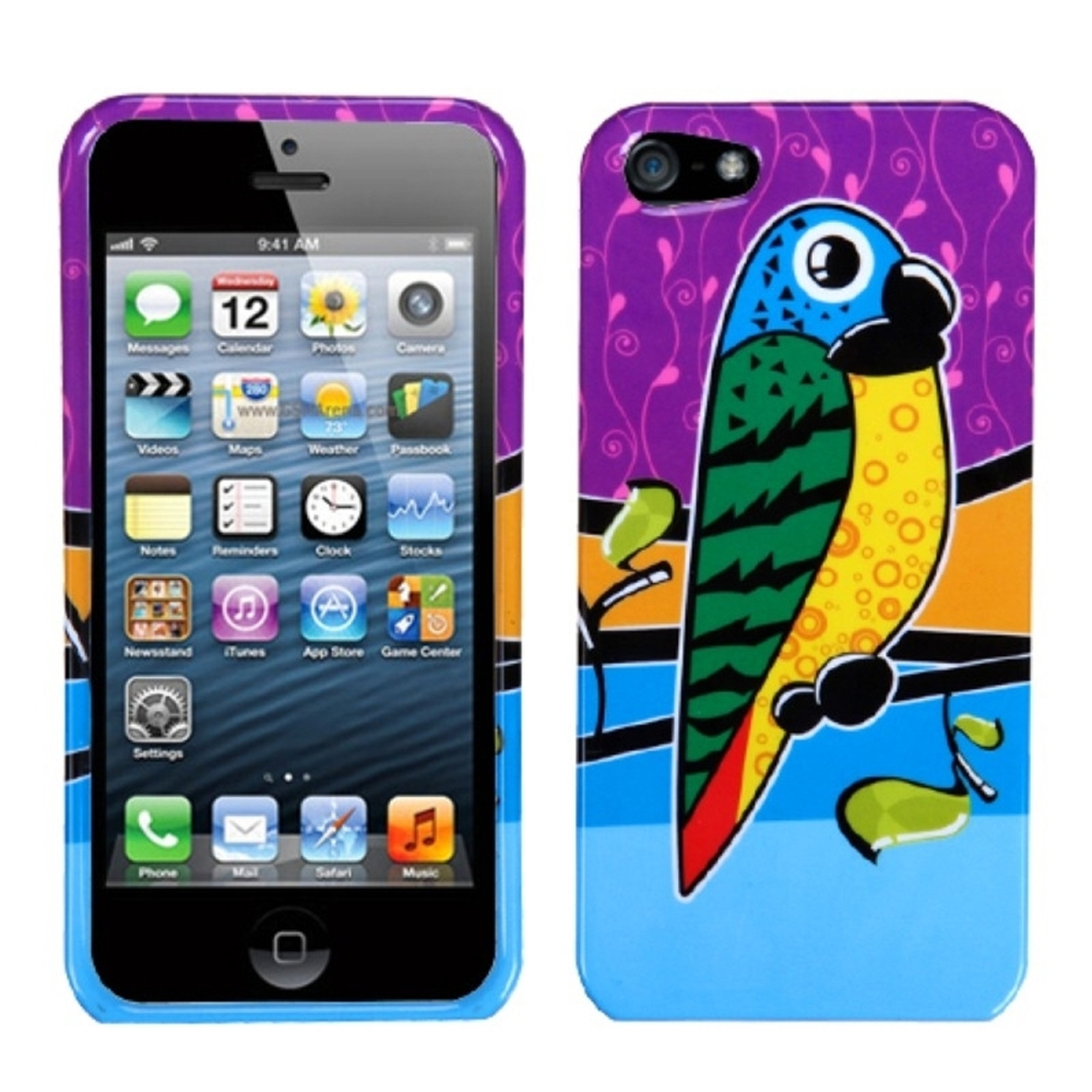 Insten Tropical Parrot Phone Case for Apple iPhone SE / 5S / 5