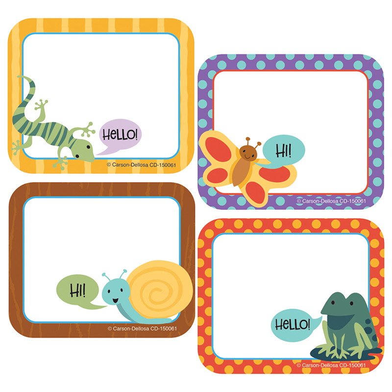 Nature Explorers Name Tags