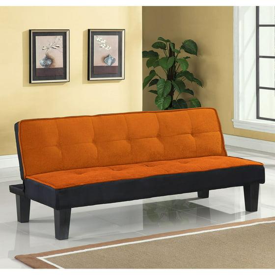 Color Block Futon Adjustable Sofa Multiple Colors