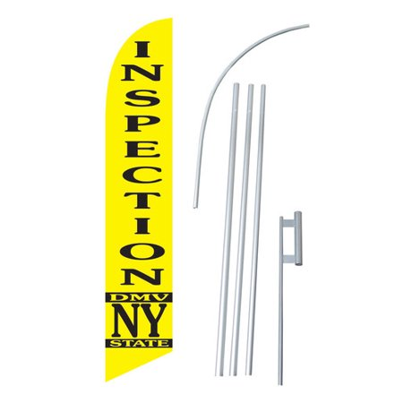 Neoplex Dmv Inspection Ny State Swooper Flag And Flagpole Set
