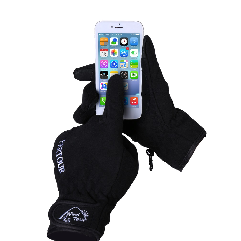 Bicycle Touch Screen Sports Windproof Cycling Warm Full Finger Glove by