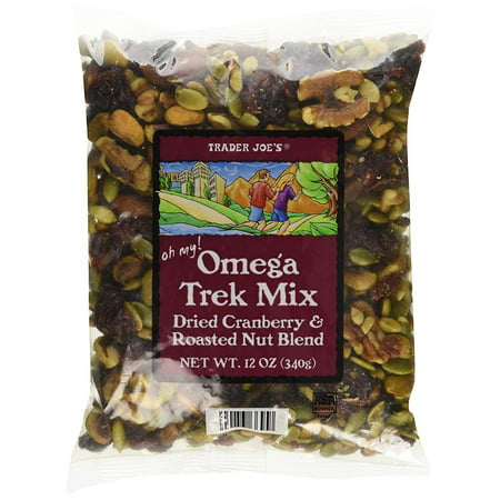 Trader Joe's Omega Trek Mix with Dried Cranberries & Roasted Nut Blend (12 Oz) (Trader Jobs)