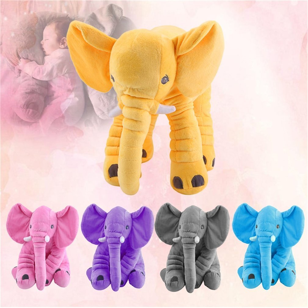 Stuffed Animal Cushion Kids Baby Sleeping Soft Pillow Toy Cute Elephant Shape Cotton Doll Stuffed & Plush Soft