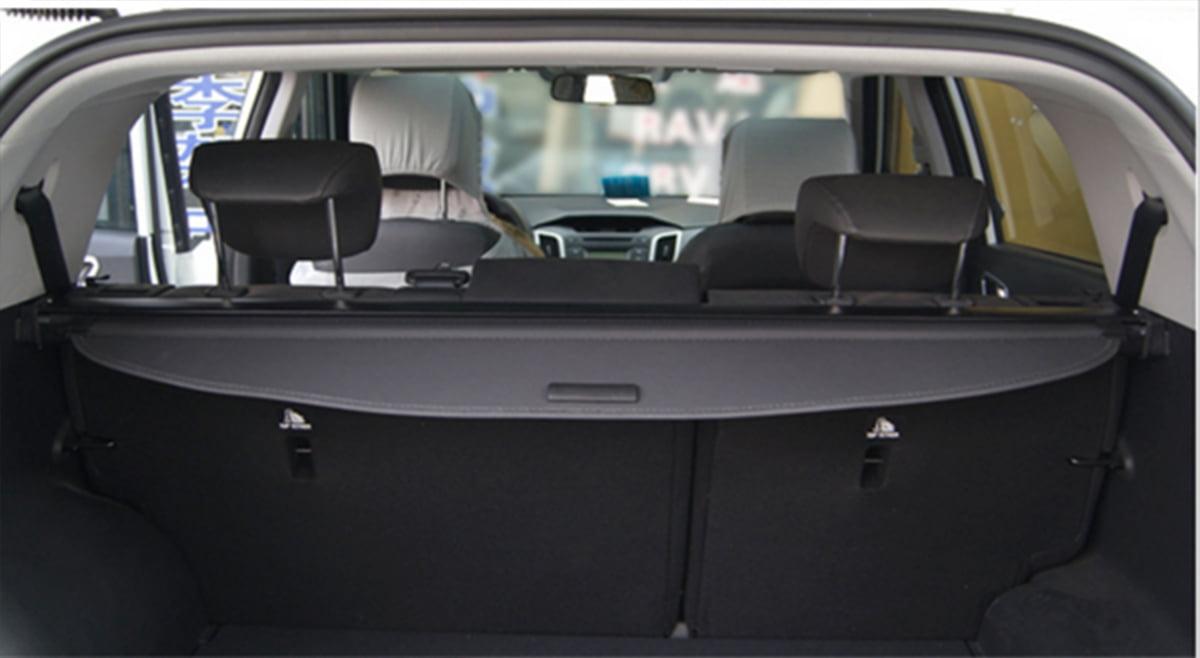 Black Cargo Cover Hyundai Santa Fe 2013 2014 Retractable Security Shade Walmart Com Walmart Com