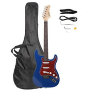 Glarry Basswood Beginner Electric Guitar with Bag Pick Strap & Accessories