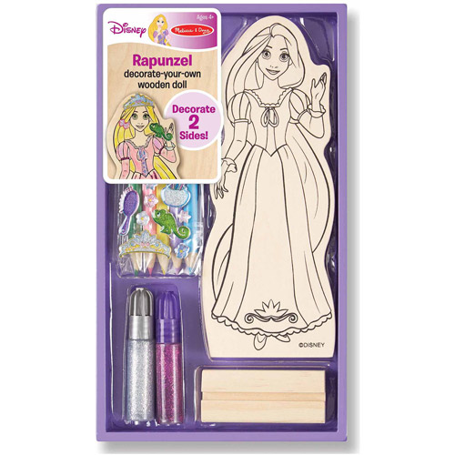 Melissa & Doug Disney Rapunzel Decorate-Your-Own Wooden Doll