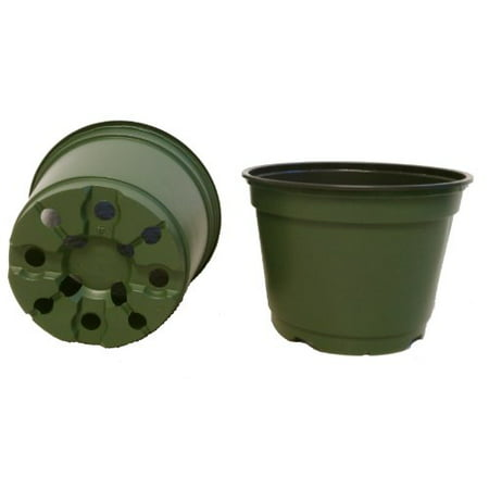 100 NEW 6 Inch TEKU Plastic Nursery Pots - Azalea Style ~ Pots ARE 6 Inch Round At the Top and 4.25 Inch Deep.
