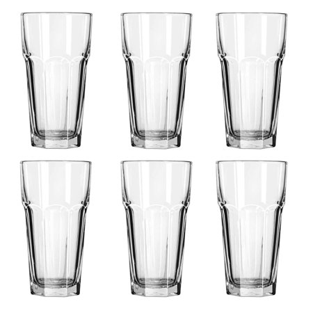 - Gibraltar Tall Iced Tea Tumbler Glasses 22 oz. (6 Cup)