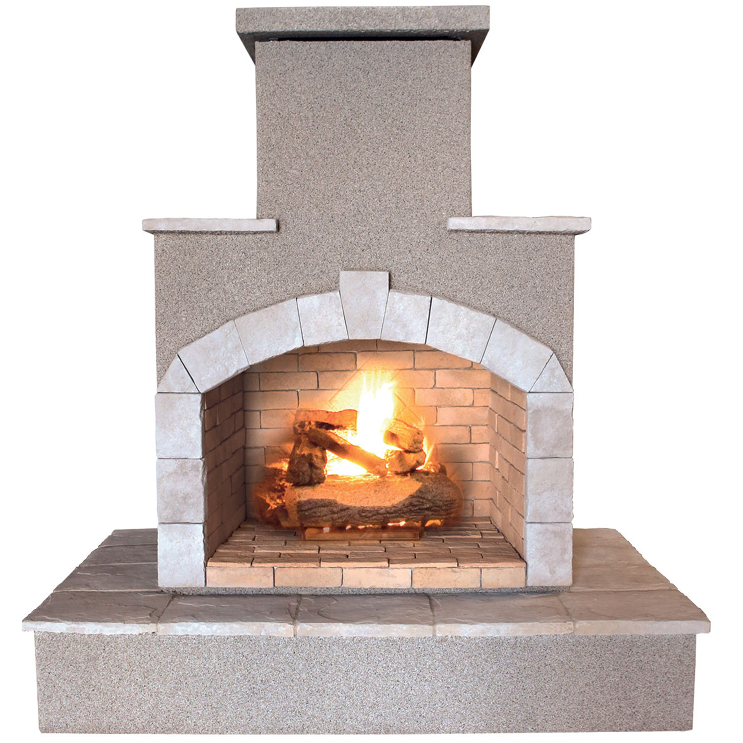 78 in. Propane Gas Outdoor Fireplace by Lloyds Material Supply