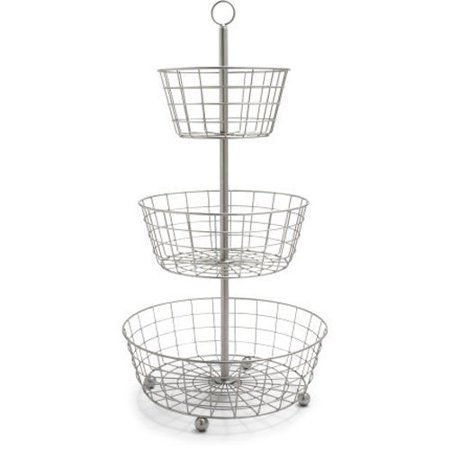 useful uh fb205 3 tier decorative wire fruit basket countertop stand. Black Bedroom Furniture Sets. Home Design Ideas