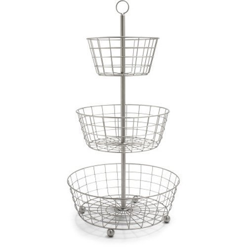 Useful UH-FB205 3 Tier Decorative Wire Fruit Basket Countertop Stand