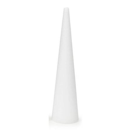 Styrofoam Cone: White, 24 x 6 inches - Wholesale Styrofoam Cones