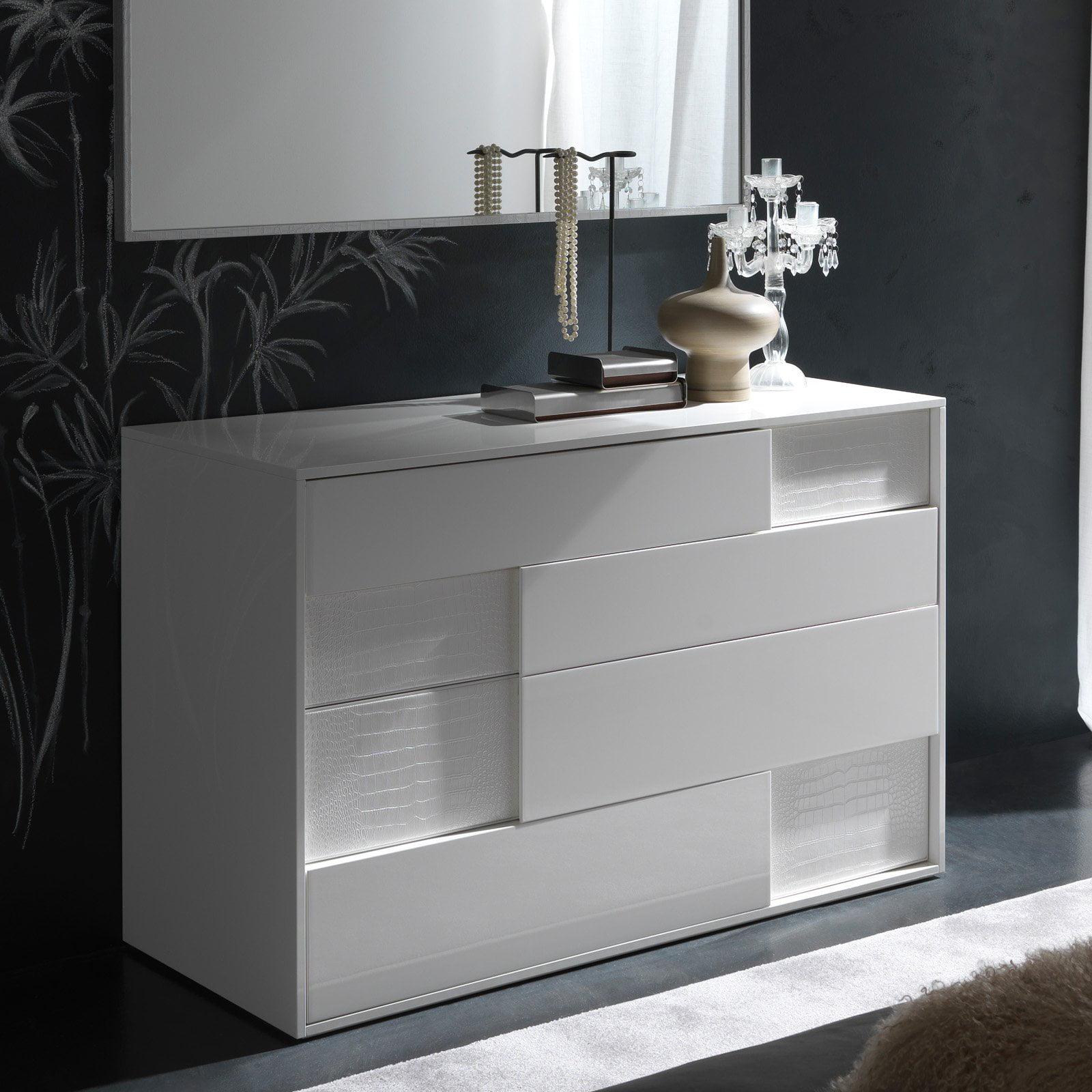 Rossetto Nightfly White Dresser