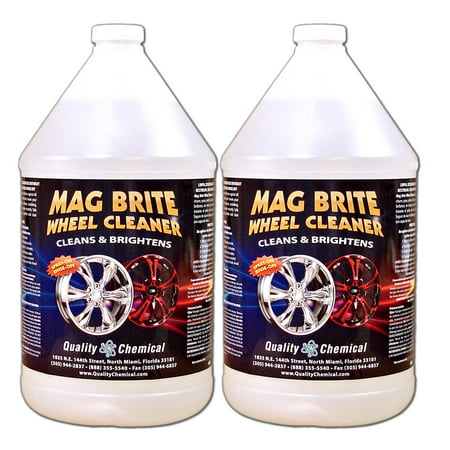Mag Brite Acid Wheel and Rim Cleaner - 2 gallon (Best Cleaner For Black Rims)