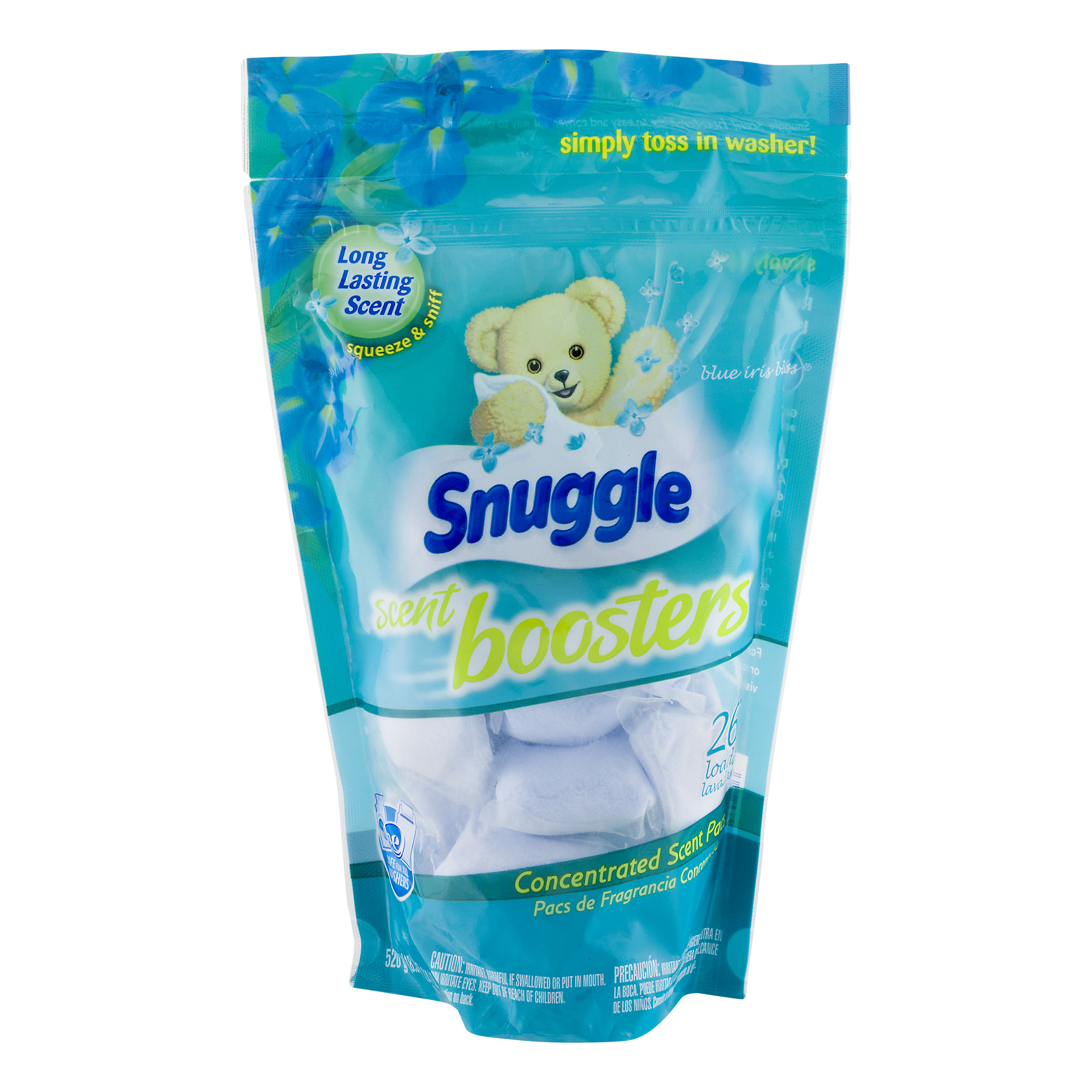 Snuggle Scent Boosters Blue Iris Bliss Concentrated Scent Pacs, 26 loads, 1.14 lb