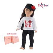 "Emily Rose 18 Inch Doll Clothes Black Stretch Skinny Jeans 3 Piece 18"" Doll Outfit 