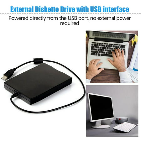 "1.44Mb 3.5"" USB External Portable Floppy Disk Drive Diskette FDD for Laptop - image 2 de 5"