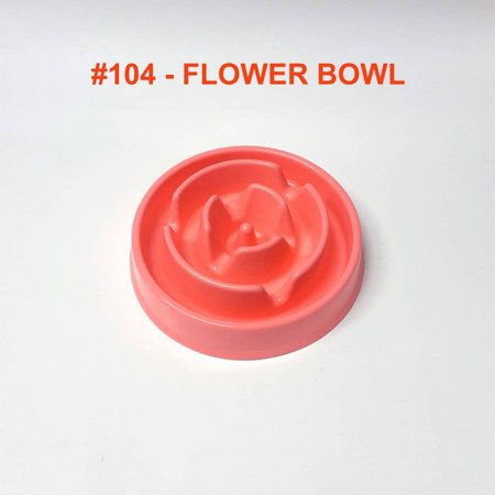 Alpha Dog Series Fun Slow Feeder Bowl - FLOWER (PINK) Series Dog Bowl