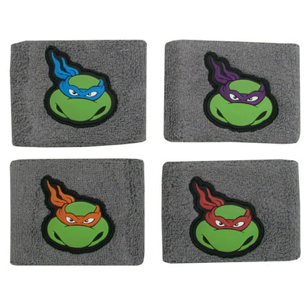 Teenage Mutant Ninja Turtles TMNT Cartoon Characters Set of 4 Wristbands (Dash Cartoon Character)
