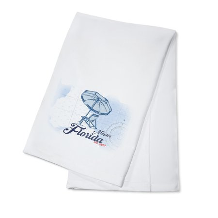 Naples Dish - Naples, Florida - Coastal Icon - Beach Chair & Umbrella - Lantern Press Artwork (100% Cotton Kitchen Towel)