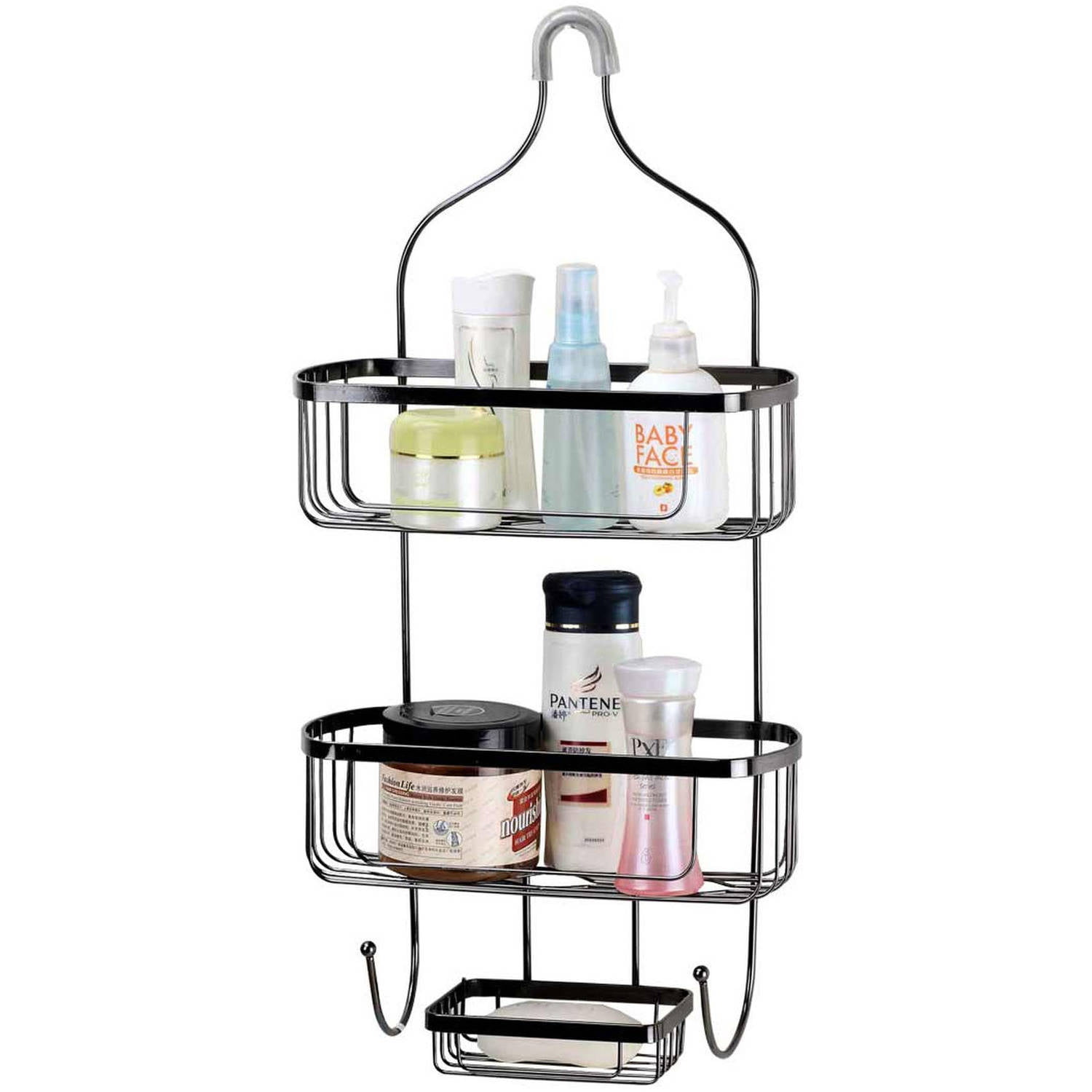 Home Basics Black Shower Caddy Large by Generic