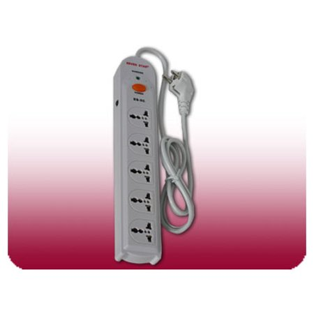 - Seven Star 220 Volt Universal 5 Outlet Power Strip With Surge Protection 220V 240V