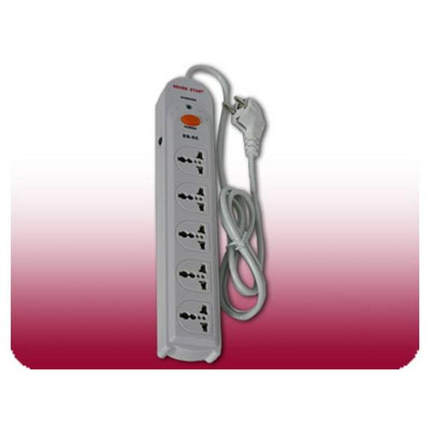 Seven Star 220 Volt Universal 5 Outlet Power Strip With Surge Protection 220v 240v Walmart Com Walmart Com