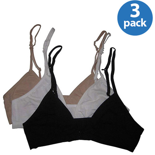 Fruit of the Loom - Girls' Amazing Convertible Bralettes, Style FT097, 3-Pack