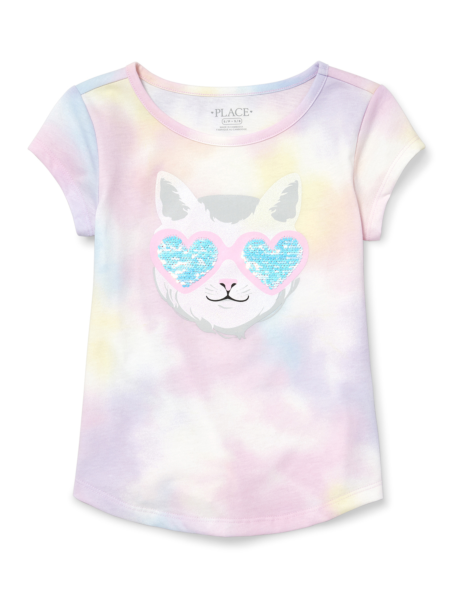 Reversible Flip Sequin Caticorn Twist Back Tee (Little Girls & Big Girls)