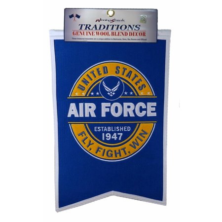 United States Air Force USAF Fly Fight Win 14x21 Wool Embroidered Banner